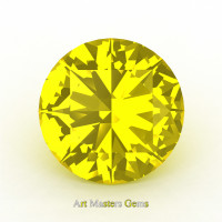 Art Masters Gems Calibrated 0.5 Ct Round Yellow Sapphire Created Gemstone RCG0050-YS