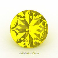 Art Masters Gems Calibrated 1.0 Ct Round Yellow Sapphire Created Gemstone RCG0100-YS
