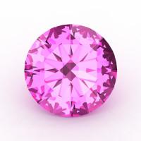 Art Masters Gems Calibrated 1.25 Ct Round Light Pink Sapphire Created Gemstone RCG0125-LPS