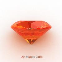 Art Masters Gems Calibrated 1.25 Ct Round Orange Sapphire Created Gemstone RCG0125-OS