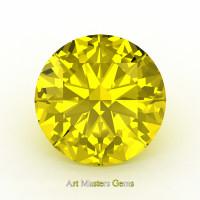 Art Masters Gems Calibrated 1.25 Ct Round Yellow Sapphire Created Gemstone RCG0125-YS