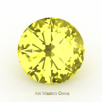 Calibrated 1.25 Ct Round Canary Yellow Sapphire Created Gemstone RCG0125-CYS