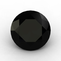 Art Masters Gems Calibrated 2.0 Ct Round Black Sapphire Created Gemstone RCG0200-BLS