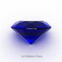 Art Masters Gems Calibrated 1.25 Ct Round Royal Blue Sapphire Created Gemstone RCG0125-RBS