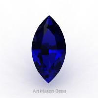 Art Masters Gems Standard 1.0 Ct Marquise Blue Sapphire Created Gemstone MCG0100-BS