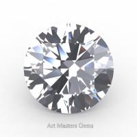 Art Masters Gems Standard 1.0 Ct Round White Sapphire Created Gemstone RCG0100-WS