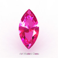 Art Masters Gems Calibrated 1.25 Ct Marquise Pink Sapphire Created Gemstone MCG0125-PS