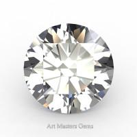 Art Masters Gems Standard 1.25 Ct Round White Sapphire Created Gemstone RCG0125-WS