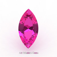 Art Masters Gems Calibrated 1.5 Ct Marquise Pink Sapphire Created Gemstone MCG0150-PS