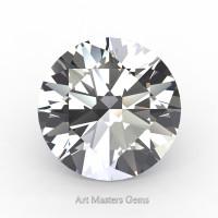 Art Masters Gems Standard 1.5 Ct Round White Sapphire Created Gemstone RCG0150-WS