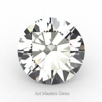 Art Masters Gems Standard 2.0 Ct Round White Sapphire Created Gemstone RCG0200-WS