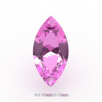 Art Masters Gems Calibrated 2.5 Ct Marquise Light Pink Sapphire Created Gemstone MCG0250-LPS