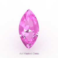 Art Masters Gems Calibrated 3.0 Ct Marquise Light Pink Sapphire Created Gemstone MCG0300-LPS