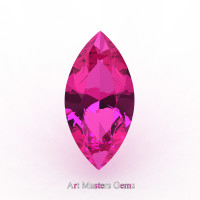 Art Masters Gems Calibrated 3.0 Ct Marquise Pink Sapphire Created Gemstone MCG0300-PS