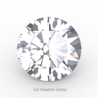 Art Masters Gems Standard 5.0 Ct Round White Sapphire Created Gemstone RCG0500-WS