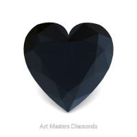 Art Masters Gems Standard 0.75 Ct Heart Black Diamond Created Gemstone HCG075-BD