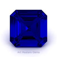 Art Masters Gems Standard 1.0 Ct Asscher Blue Sapphire Created Gemstone ACG100-BS