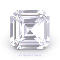 Art Masters Gems Standard 1.0 Ct Asscher White Sapphire Created Gemstone ACG100-WS