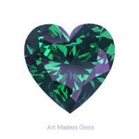 Art Masters Gems Standard 1.0 Ct Heart Russian Alexandrite Created Gemstone HCG100-RAL