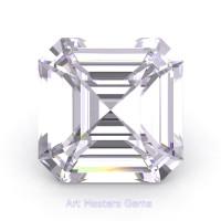 Art Masters Gems Standard 1.5 Ct Asscher White Sapphire Created Gemstone ACG150-WS