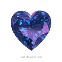 Art Masters Gems Standard 1.5 Ct Heart Alexandrite Created Gemstone HCG150-AL