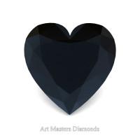 Art Masters Gems Standard 1.5 Ct Heart Black Diamond Created Gemstone HCG150-BD