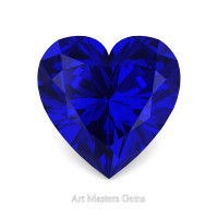 Art Masters Gems Standard 1.5 Ct Heart Blue Sapphire Created Gemstone HCG150-BS