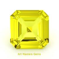 Art Masters Gems Standard 2.0 Ct Asscher Yellow Sapphire Created Gemstone ACG200-YS
