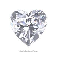 Art Masters Gems Standard 2.0 Ct Heart White Sapphire Created Gemstone HCG200-WS