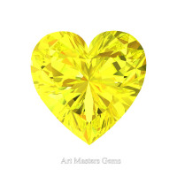 Art Masters Gems Standard 2.0 Ct Heart Yellow Sapphire Created Gemstone HCG200-YS