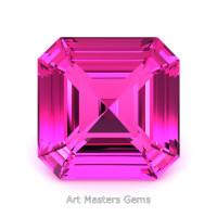 Art Masters Gems Standard 3.0 Ct Asscher Pink Sapphire Created Gemstone ACG300-PS