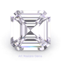 Art Masters Gems Standard 3.0 Ct Royal Asscher White Sapphire Created Gemstone RACG300-WS