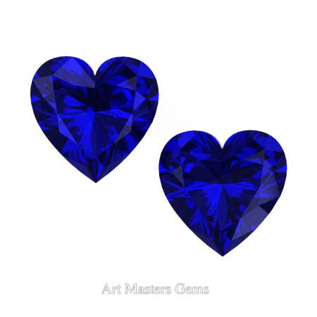 Art-Masters-Gems-Standard-Set-of-Two-0-7-5-Carat-Heart-Cut-Blue-Sapphire-Created-Gemstones-HCG075S-BS-T