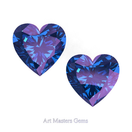Art-Masters-Gems-Standard-Set-of-Two-1-0-0-Carat-Heart-Cut-Alexandrite-Created-Gemstones-HCG100S-AL-T2