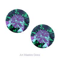 Art Masters Gems Set of Two Standard 1.0 Ct Russian Alexandrite Gemstones RCG100S-RAL