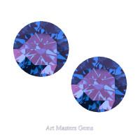 Art Masters Gems Set of Two Standard 1.5 Ct Alexandrite Gemstones RCG150S-AL