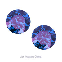Art Masters Gems Set of Two Standard 2.5 Ct Alexandrite Gemstones RCG250S-AL