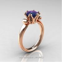 Antique 14K Rose Gold 1.5 CT Chrysoberyl Alexandrite Engagement Ring AR127-14KRGAL