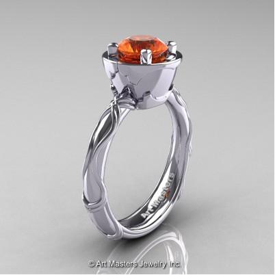 Art-Masters-Venetian-14K-White-Gold-1-0-Ct-Orange-Sapphire-Engagement-Ring-R475-14KWGOS-P-402×402