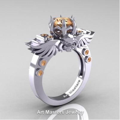 Art-Masters-Winged-Skull-14K-White-Gold-1-Carat-Morganite-Engagement-Ring-R613-14KWGMO-P-402×402