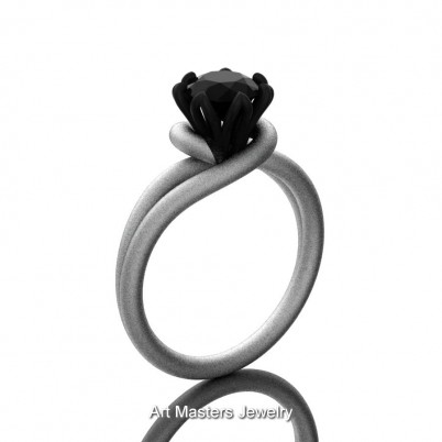 Classic-14K-Two-Tone-White-Gold-1-CT-Black-Diamond-Solitaire-Engagement-Ring-R559-14KWBGSBD-P1-402×402