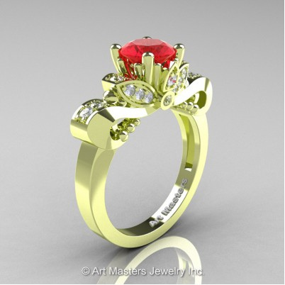 Classic-18K-Green-Gold-1-Carat-Ruby-Diamond-Solitaire-Engagement-Ring-R323-14KGGDR-P-402×402
