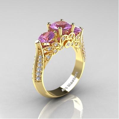 Classic-Three-Stone-Lilac-Amethyst-Diamond-Engagement-Ring-R200-YGDLA-P-402×402