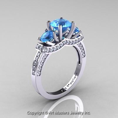 French-14K-White-Gold-Three-Stone-Blue-Topaz-DIamond-Engagement-Ring-R182-14KWGDBT-P-402×402
