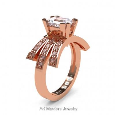 Modern-Victorian-14K-Rose-Gold-1-Ct-Emerald-Cut-White-Sapphire-Diamond-Engagement-Ring-R344-14KRGDWS-P-402×402