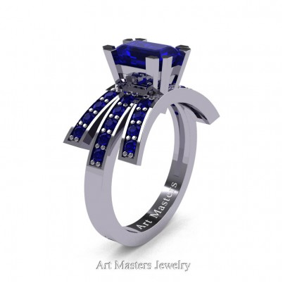 Modern-Victorian-14K-White-Gold-1-Ct-Emerald-Cut-Blue-Sapphire-Engagement-Ring-R344-14KWGBS-P-402×402
