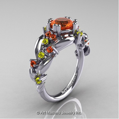 Nature-Classic-14K-White-Gold-1-0-Ct-Orange-Yellow-Sapphire-Leaf-and-Vine-Engagement-Ring-R340-14KWGOYS-P-402×402
