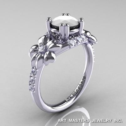 Nature-Inspired-14K-White-Gold-1-0-Ct-White-Agate-Diamond-Leaf-Vine-Engagement-Ring-R245-WGDWA-P-402×402