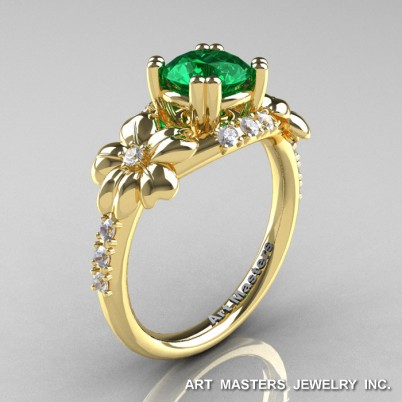Nature-Inspired-14K-Yellow-Gold-1-0-Ct-Emerald-Diamond-Leaf-Vine-Engagement-Ring-R245-YGDE-P-402×402