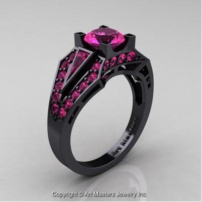 Classic-Edwardian-14K-Black-Gold-1-0-Ct-Pink-Sapphire-Engagement-Ring-R285-14KBGPS-P-402×402